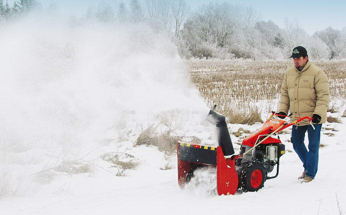 Motormower 280 Serie Fort, with turbine snowplough.