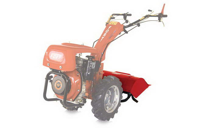 Motormower 280 Serie Fort, with rotary tiller.