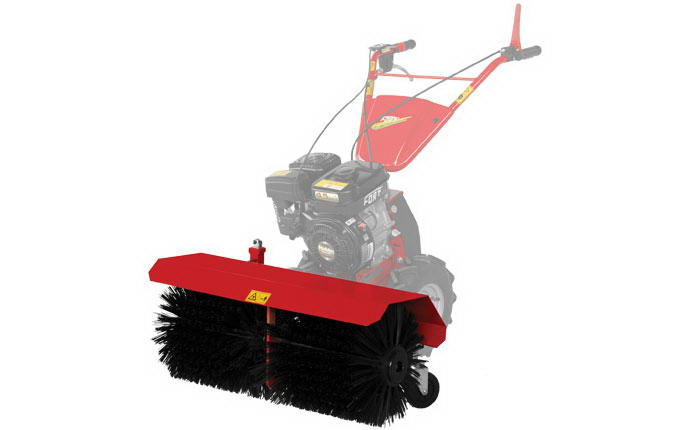 Motormower Micro 2000 Fort frontal roller brush.