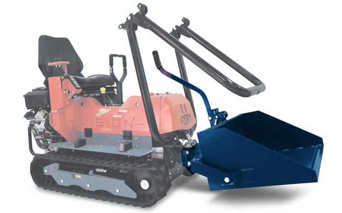 Multifunctional reversible machinery Vision with scraper.