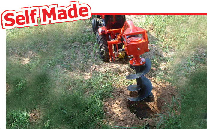 Small tractor Diablo with drill.