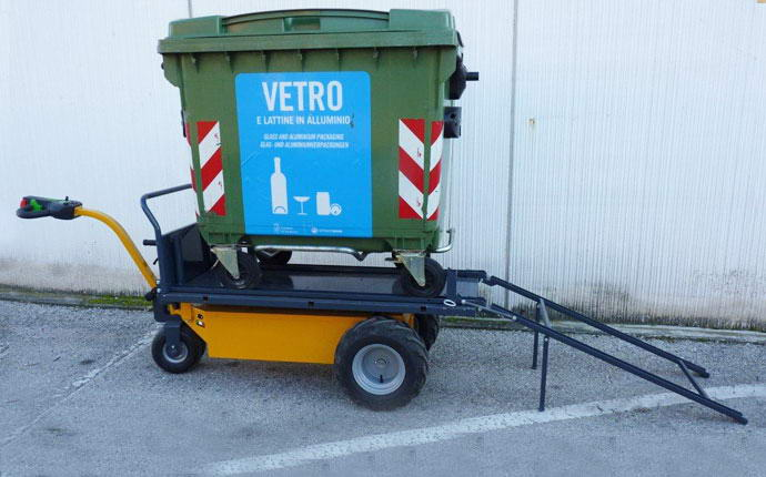 Electric transporter 600 WXL Fort, recycling glass.