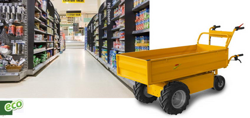Electric transporters for Discount and Supermarket.